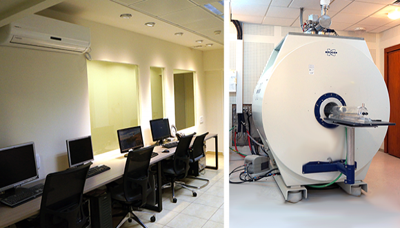 7T Bruker Scanner and Control Room at animal MRI unit
